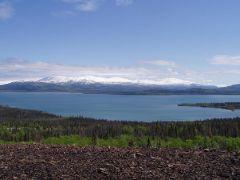 Overlooking Dezadeash Lake from Rock Glacier